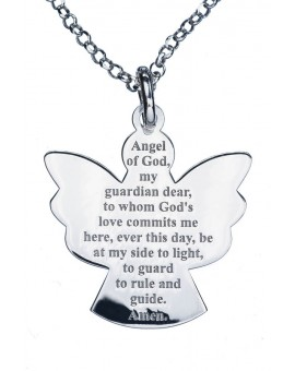 Guardian Angel Sterling Silver 925 Pendant big
