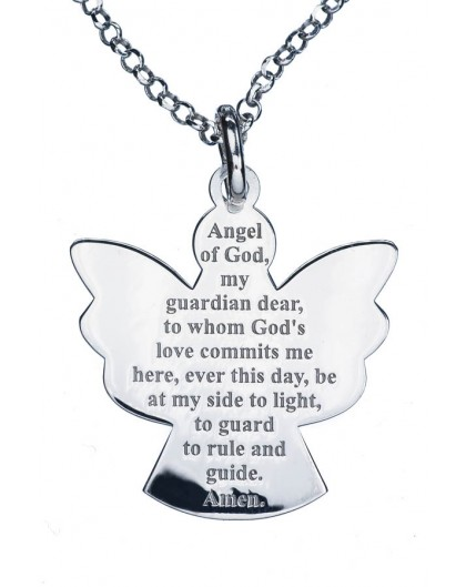 Guardian Angel Sterling Silver 925 Pendant big