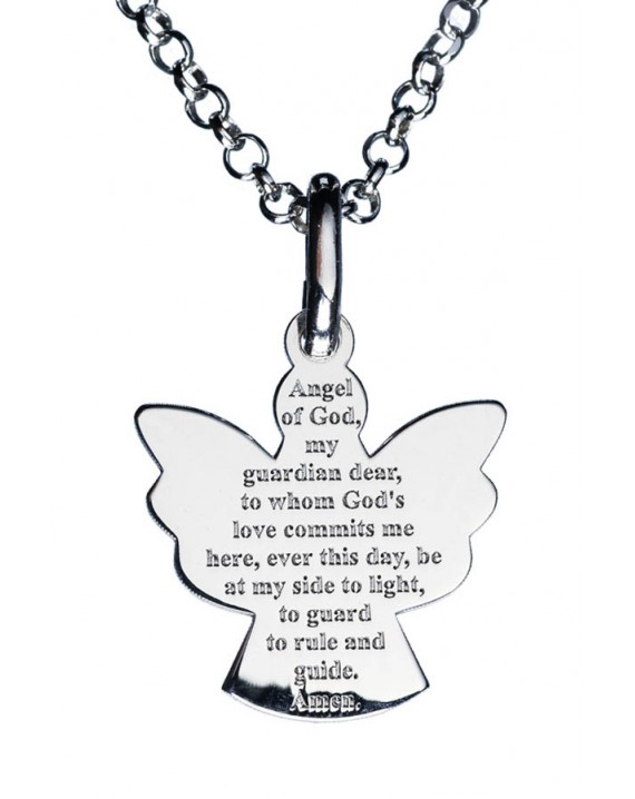 Guardian Angel Sterling Silver 925 Pendant small