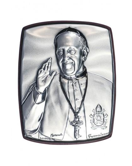 Pope Francis quad Bilaminate Sterling Silver icon