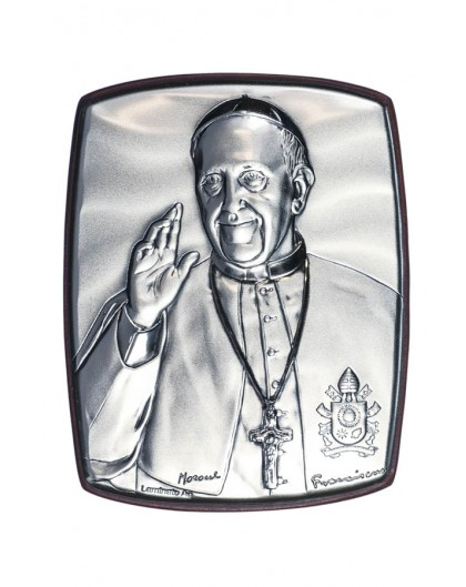 Pope Francis quad Bilaminate Sterling Silver icon