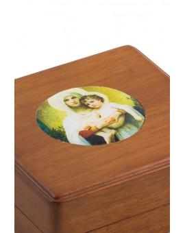 White Virgin Mary Rosary Box