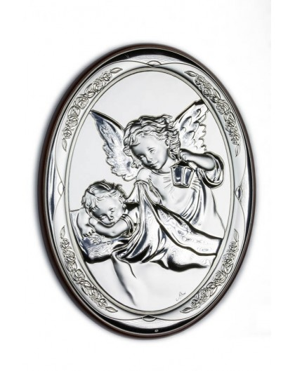 Guardian Angel Bilaminate Sterling Silver 0814