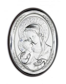 Virgin Mary Bilaminate Sterling Silver 0813