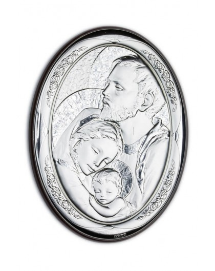 Holy Family Bilaminate Sterling Silver 0812