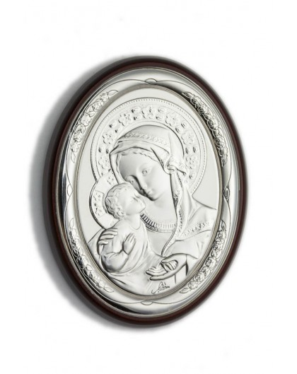 Virgin Mary Bilaminate Sterling Silver 0855
