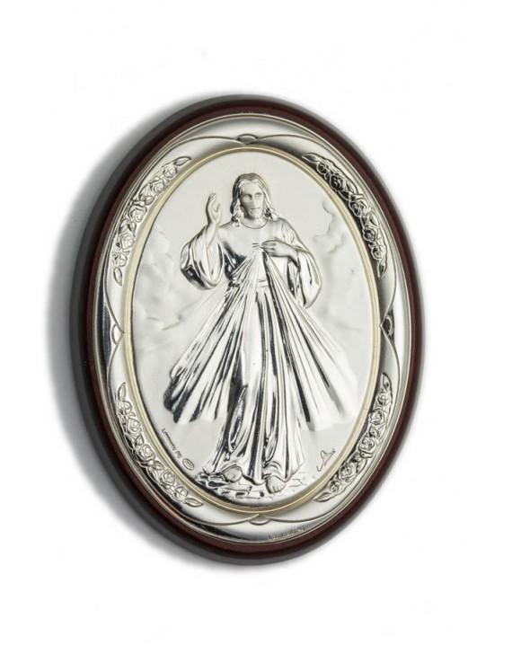 Divine Mercy Bilaminate Sterling Silver 0854