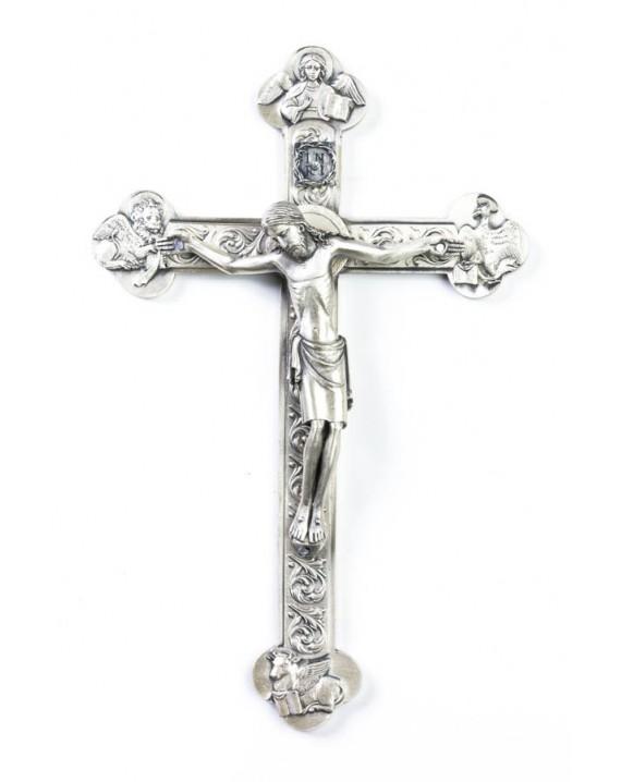 Four Evangelist metal Crucifix