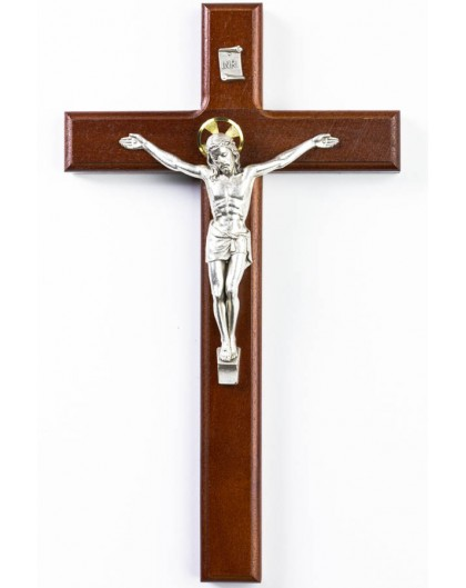 Dark Wood Wall Crucifix