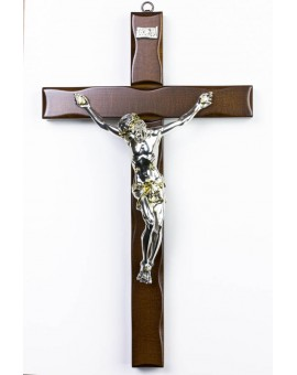 Dark Wood Wall Crucifix big