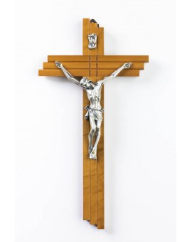 Wooden Crucifix with Pewter Corpus