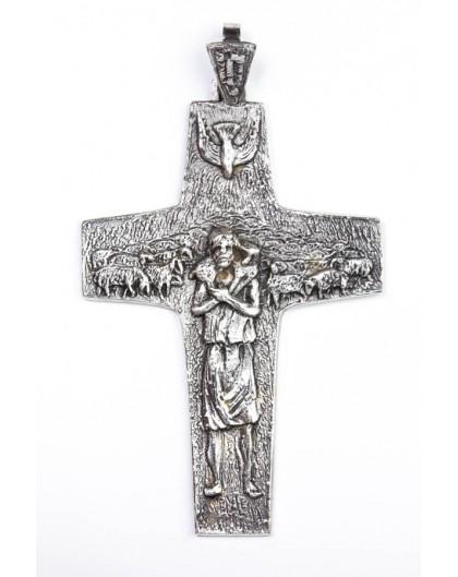 The original Pope Francis Pastoral Crucifix Silver