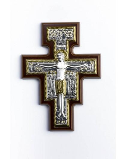 San Damiano Silver Plated Crucifix
