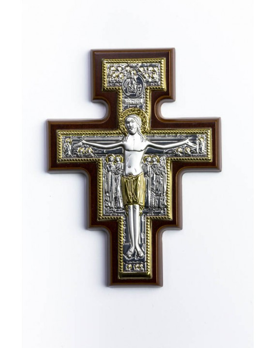 San Damiano Silver Plated Crucifix