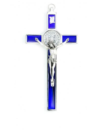 St. Benedict Crucifix Blue