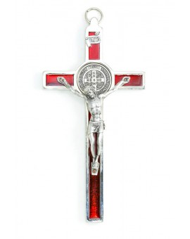 St. Benedict Crucifix Red