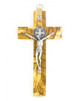 St. Benedict Crucifix Olive wood - Prestige series