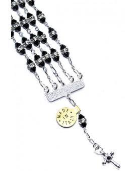 Jewel Rosary Bracelet Black strass