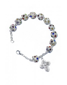 Strass Bracelet 4 way Medal Cross