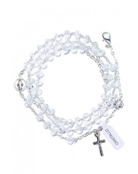Clear Crystal Rosary long Bracelet