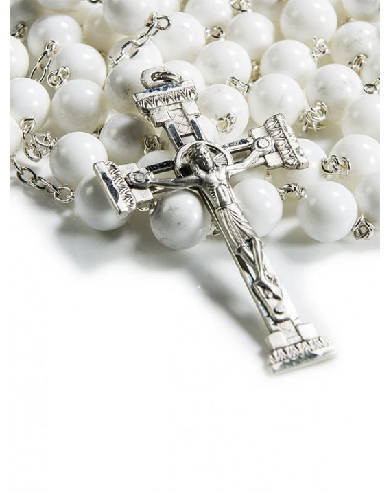 White shell Rosary 8mm Beads