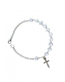 Clear Crystal Rosary Bracelet