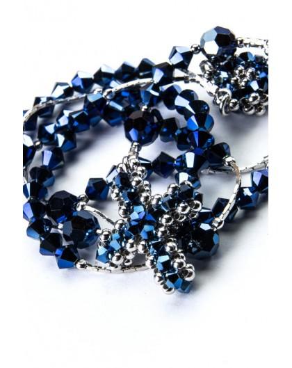 Blue Swarovski and Silver Necklace