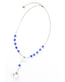 Swarovsky Light Blue and Clear Crystal Necklace