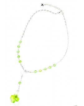 Swarovsky Light Green and Clear Crystal Necklace