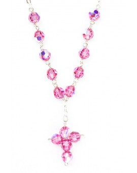 Swarovsky Pink Crystal Beads Necklace