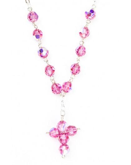 Swarovsky Pink Crystal Beads Necklace
