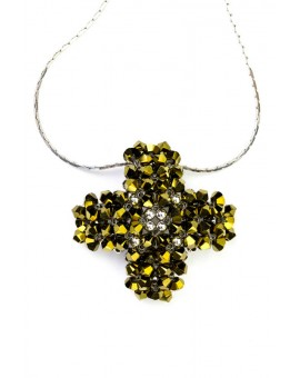 Swarovski Gold and silver Cross Pendant