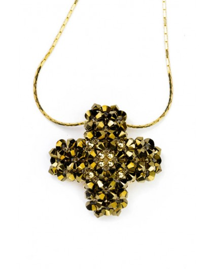 Swarovski Gold Cross pendant