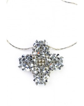 Swarovski Gray and Silver Cross necklace