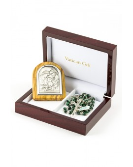 Greeen Malachite and Silver Icon Christmas Gift