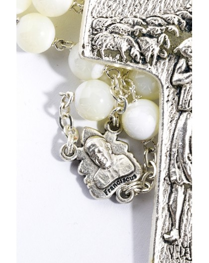 Pope Francis Mother of Pearl Rosary