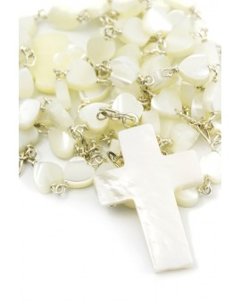 Baptism Gift 01 Precious White Wooden Box - Mother of Pearl