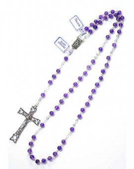 Amethyst Rosary 7mm beads