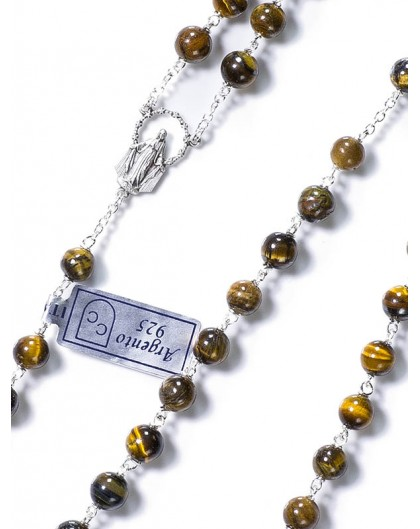 Tiger's Eye Rosary